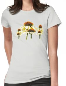 Cone flowers  Womens Fitted T-Shirt