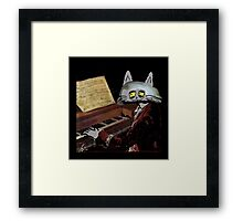 Catzart Plays The Piano Framed Print
