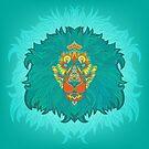 - Turquoise lion - by Losenko  Mila