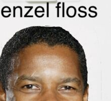 Denzel Washington floss Sticker