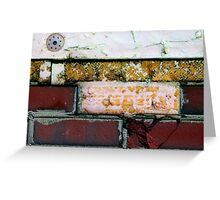 yellow red brick wall Greeting Card