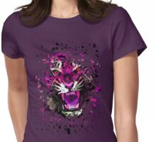 Tiger Roar (Pink) Womens Fitted T-Shirt