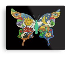 psychedelic butterfly Metal Print