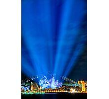 Lighting the Sails - Sydney Opera House Photographic Print