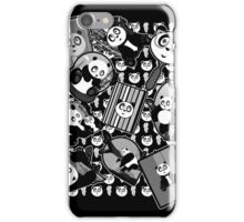 Panda Mix - Black iPhone Case/Skin