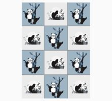 Pandas Checker - Blue Kids Clothes