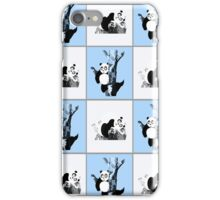 Pandas Checker - Blue iPhone Case/Skin