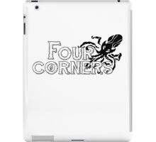 Four Corners logo - Black and White iPad Case/Skin