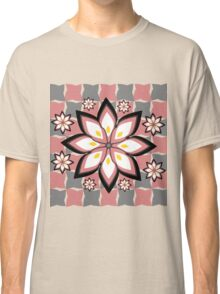 Floral party in grey and pink Classic T-Shirt