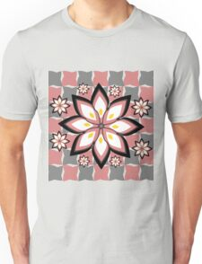 Floral party in grey and pink Unisex T-Shirt