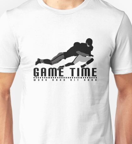 Game Time - Tackle (White) Unisex T-Shirt