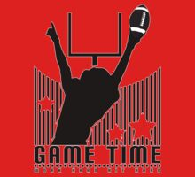 Game Time - Football (Red) One Piece - Short Sleeve