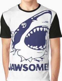 Funny Jawsome Jaws Shark  Graphic T-Shirt
