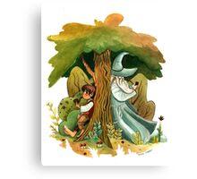 Bilbo Baggins and Gandalf Canvas Print