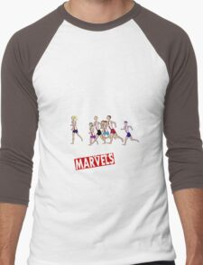 Melbourne Marathon Marvels No 3 Men's Baseball ¾ T-Shirt