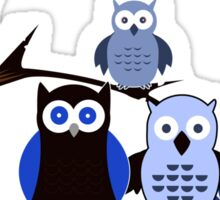 Blue Owls Sticker