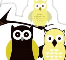 Yellow Owls Sticker