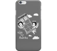 The Angels have the Phone Box - Version 3 BW (for dark tees) iPhone Case/Skin