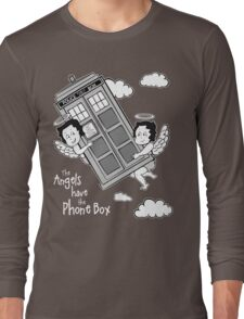The Angels have the Phone Box - Version 3 BW (for dark tees) Long Sleeve T-Shirt
