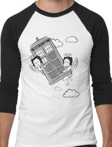 The Angels have the Phone Box - Version 3 BW (for dark tees) Men's Baseball ¾ T-Shirt