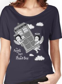 The Angels have the Phone Box - Version 3 BW (for dark tees) Women's Relaxed Fit T-Shirt