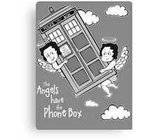 The Angels have the Phone Box - Version 3 BW (for dark tees) Canvas Print