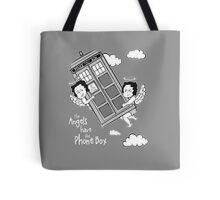 The Angels have the Phone Box - Version 3 BW (for dark tees) Tote Bag