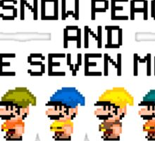 Princess Snow Peach and The seven Marios 8-bit Sticker