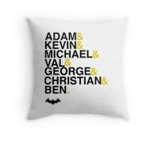 Batman actors shirt & more Throw Pillow