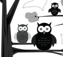 Black & White Owls Sticker