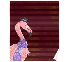 Hipster Flamingo Poster