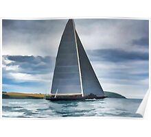 J Class Yacht Poster