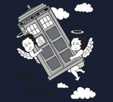 The Angels have the Phone Box - Version 3 BW (for light tees) One Piece - Short Sleeve