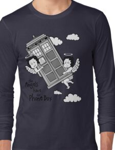 The Angels have the Phone Box - Version 3 BW (for light tees) Long Sleeve T-Shirt