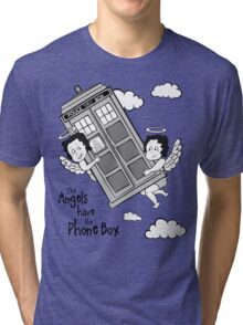 The Angels have the Phone Box - Version 3 BW (for light tees) Tri-blend T-Shirt