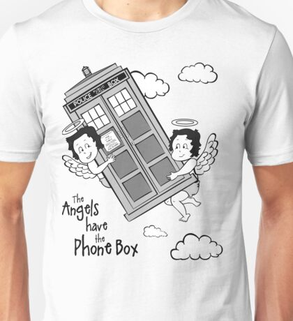 The Angels have the Phone Box - Version 3 BW (for light tees) Unisex T-Shirt
