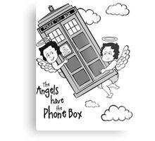 The Angels have the Phone Box - Version 3 BW (for light tees) Metal Print