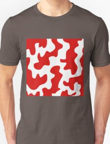 Red and White Abstract T-Shirt