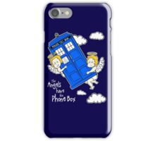 The Angels have the Phone Box - Version 4 (for dark tees / white outlines)  iPhone Case/Skin