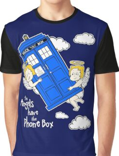 The Angels have the Phone Box - Version 4 (for dark tees / white outlines)  Graphic T-Shirt
