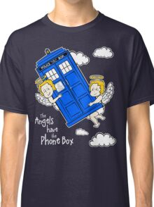 The Angels have the Phone Box - Version 4 (for dark tees / white outlines)  Classic T-Shirt