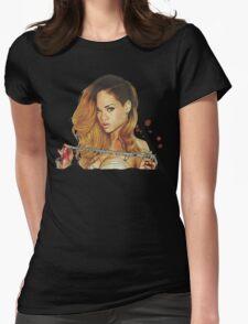 rihanna 09 Womens Fitted T-Shirt