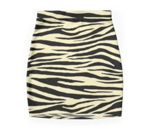 0047 Blond Tiger Mini Skirt