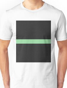 Simple Division - Abstract, Geometric, Minimalist Pop Art Style In Green Unisex T-Shirt