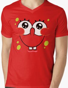 Spongebob Cute Face Mens V-Neck T-Shirt