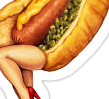 Let's All Go to the Lobby - Hot Dog Girl Sticker