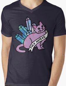 haters crystal cat cosmic kitten meme cute sassy feminist print Mens V-Neck T-Shirt