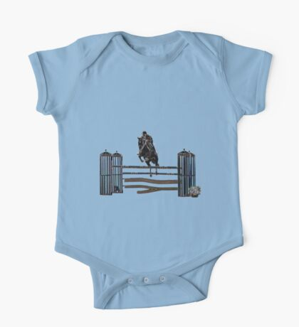 Horse Jumping  One Piece - Short Sleeve