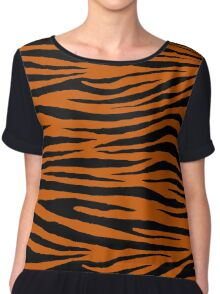 0082 Burnt Orange Tiger Chiffon Top