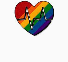 Rainbow Beating Heart Unisex T-Shirt